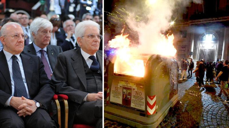NAPOLI VIOLENTA IL COPRIFUOCO! Mattarella, De Luca & Co. abusano della Pazienza dell'Italia. E preparano l'Esercito