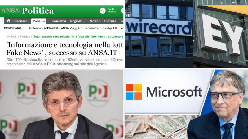 PANDEMIA: CONTRO LE FAKE-NEWS IL NETWORK DEL CRAC WIRECARD! Forum Ansa col sottosegretario PD ed EY-Ernst&Young (partner di Gates) sotto accusa in Germania