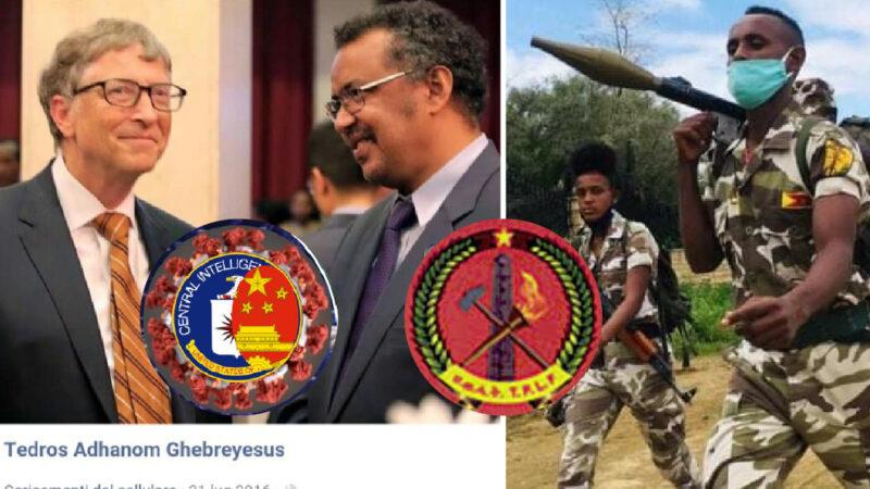 WUHAN-GATES – 24. OMS IN MANO AL PUPAZZO DI GATES & CINA. Tedros leader TPLF: i ribelli Comunisti IslamicI accusati da Amnesty dell'ultimo massacro in Etiopia