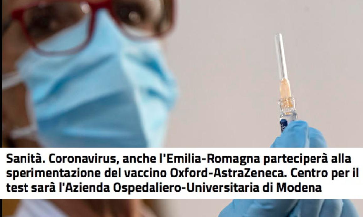 """LA PANDEMIA PORTA LAVORO! Cercasi 300 CAVIE UMANE per l'Inquietante Vaccino AstraZeneca. Dalla """"rossa"""" Emilia si parte…"""
