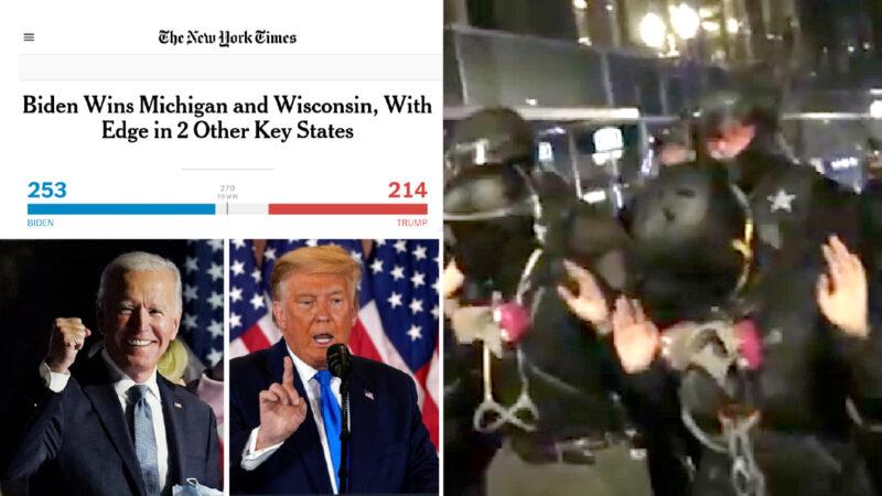 ELEZIONI USA: ERRORI, MISTERI E INCUBO GUERRA CIVILE. NYT contesta FOX News. Rivoltosi anti-Trump arrestati a Manhattan e Portland