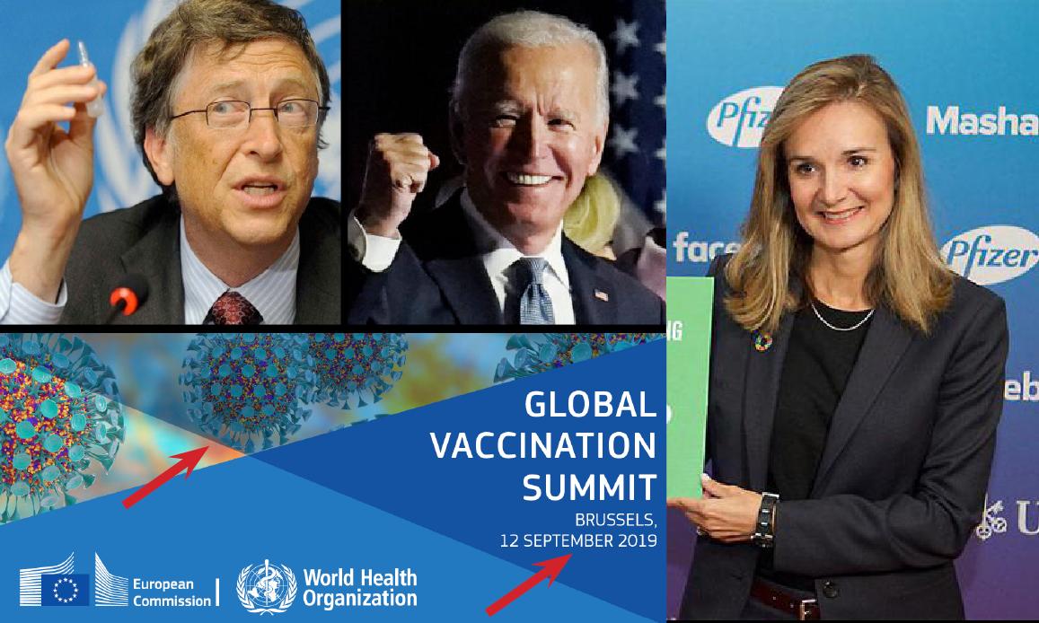 WUHAN-GATES – 26. BIO-ARMA SARS-2 & VACCINI D'ORO. Dai test CIA-OMS pagati da Gates al summit UE con PFIZER, sponsor di Biden, prima della pandemia. E le molecole Covid…