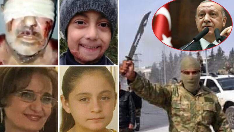 AFRIN, L'INFERNO SIRIANO DI ERDOGAN. 188 Torturati a Morte, 127 Stupri, anche su Fanciulle Disabili, dei Jihadisti armati dalla Turchia sotto lo scudo NATO