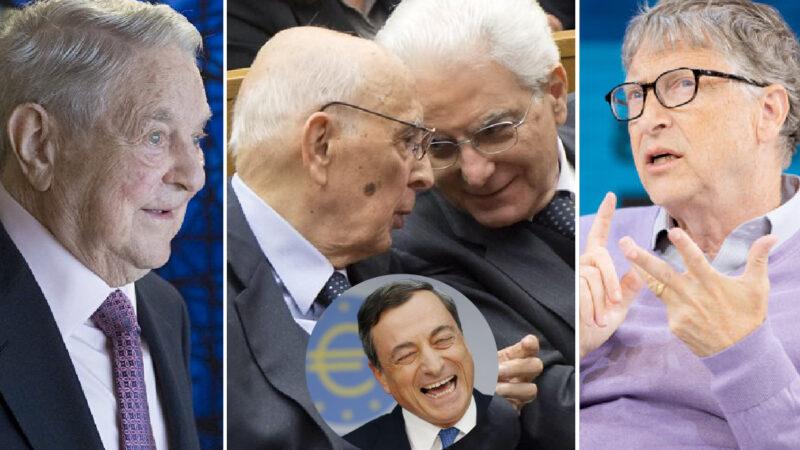 COMPLOTTO NWO CONTRO L'ITALIA – 1. I 4 Burattinai di Draghi e dei Ministri Tecnici. Riconferma al pandemista Speranza voluta da Mattarella