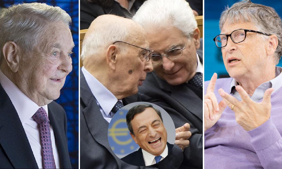 NWO CONTRO L'ITALIA – 1. I 4 Burattinai di Draghi e dei Ministri Tecnici. Riconferma al pandemista Speranza voluta da Mattarella