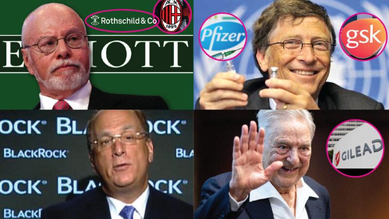 LOBBY SIONISTE – 1. Fink (BlackRock) & Singer (Elliott) con Soros & Gates nelle Big Pharma antiCovid (Gilead e GSK)