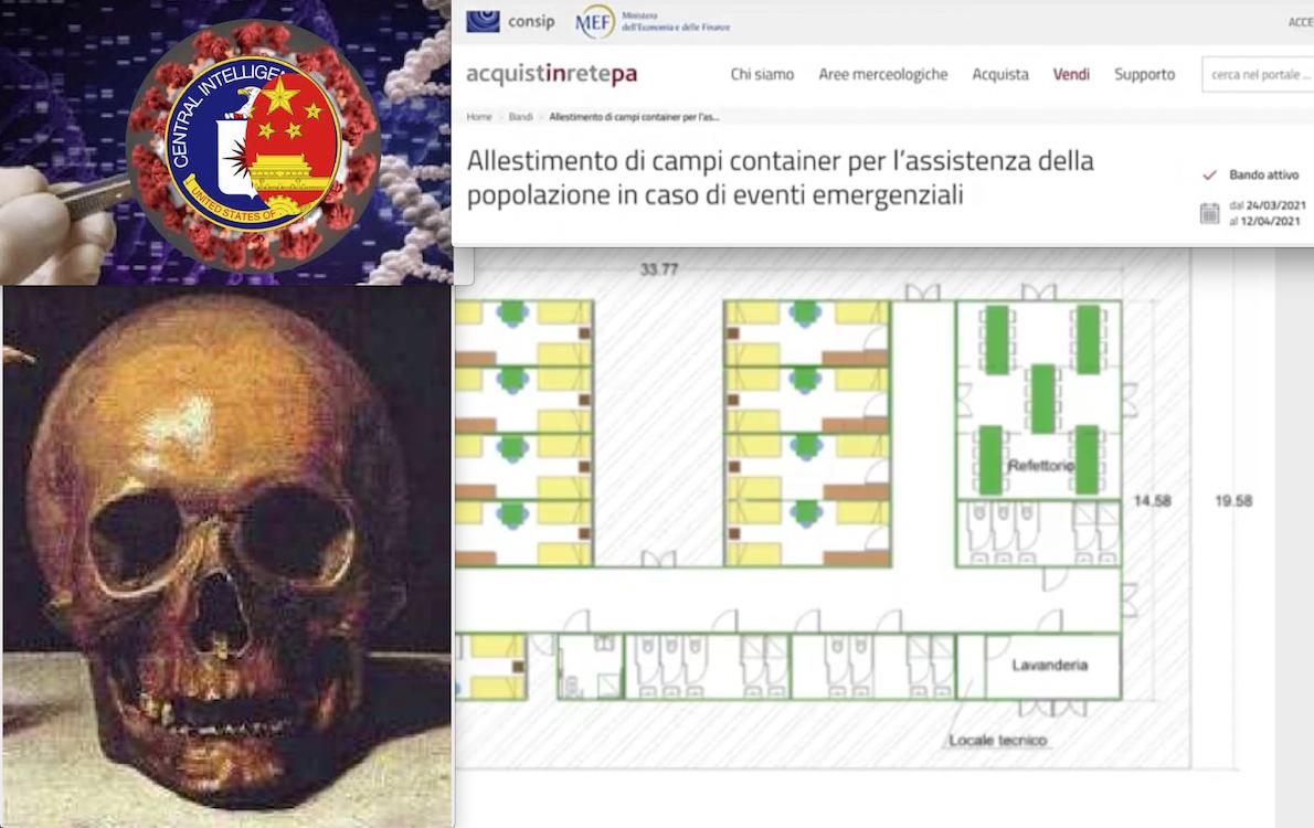 COVID: ANZIANI DA LASCIAR MORIRE SENZA CURE E CAMPI PER NO-VAX. Piani Criminali UK-USA. Incubo Containers in Italia
