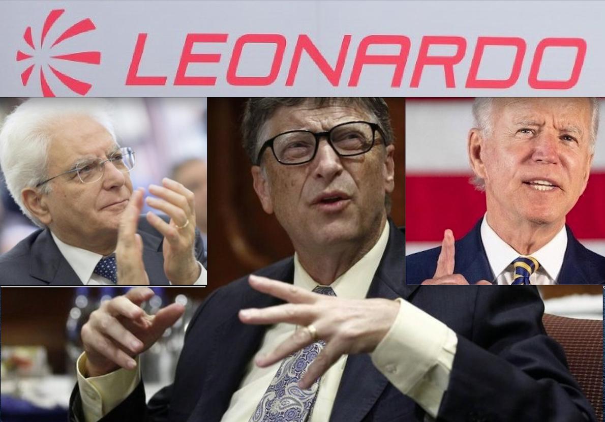 "IN MANO A GATES PURE LA TECNOLOGIA MILITARE ""IA"" ITALIANA. Accordo Leonardo-Microsoft e Intrighi DEM tra Intelligence e Pandemia"