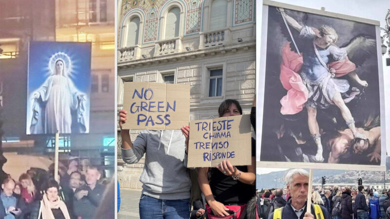 NO GREEN PASS: TRIESTE CHIAMA, L'ITALIA RISPONDE!. In Attesa del Governo resta il Presidio nel Porto Giuliano. Proteste in 90 Piazze