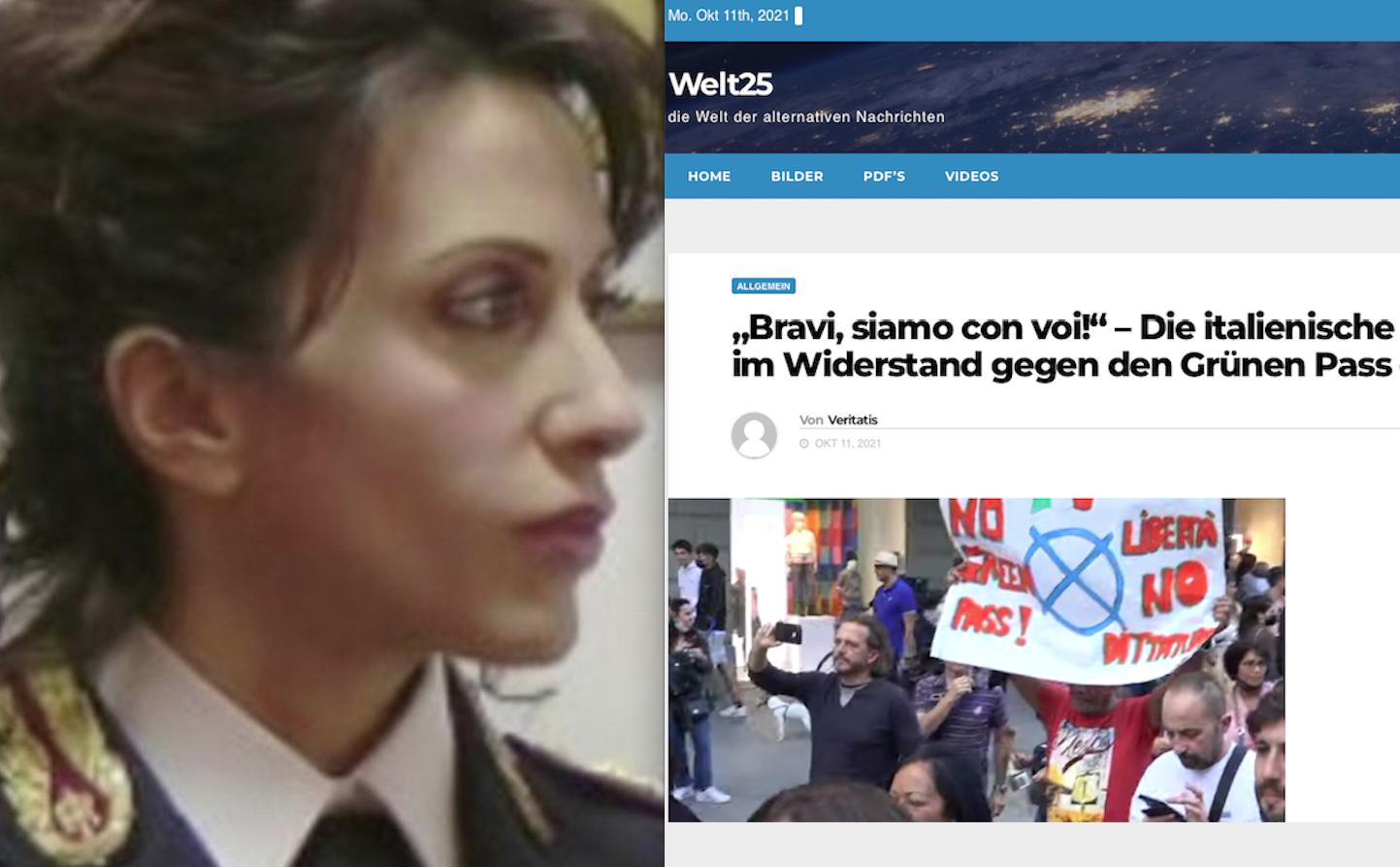 """SOSPESO VICEQUESTORE """"NO GREEN PASS"""" ENCOMIATA DA QUOTIDIANO TEDESCO. E' Dittatura Nazi-Comunista"""